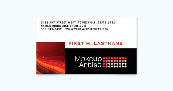 Makeup Artist Business Card Design Idea