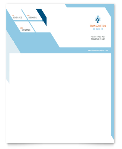 Medical Transcription Letterhead Design