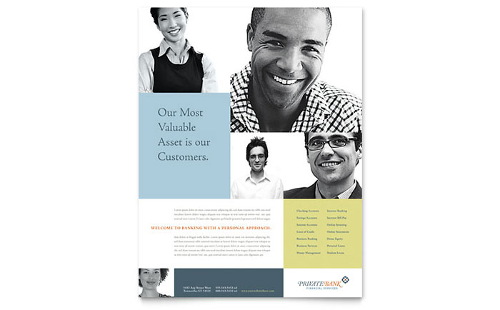 Personal Banking One Page Brochure Template