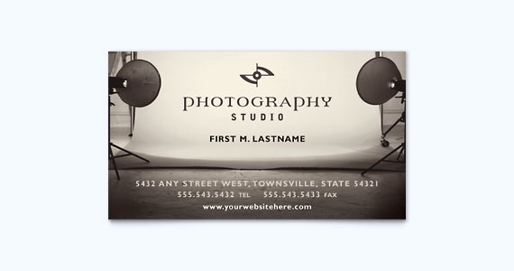Photography Business Card Design Idea