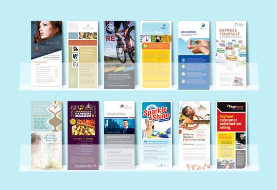 Rack Card Graphic Design Samples