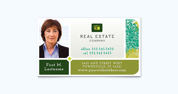 Real Estate Business Card Design Idea