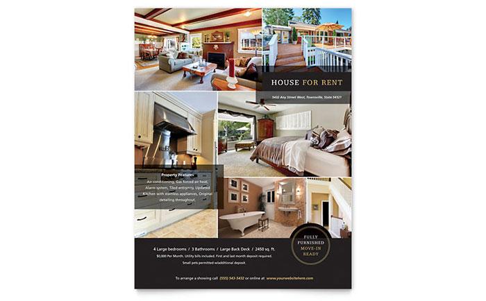 Real Estate Flyer Sample #4 - House for Rent