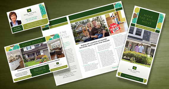 Real Estate Brochures, Flyers, Newsletters