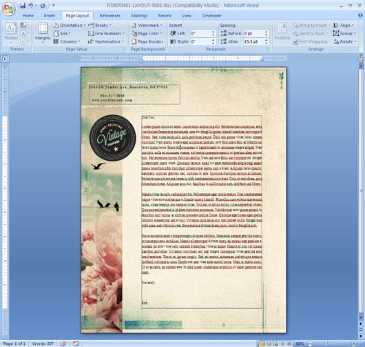 Edit Letterhead Template in Word