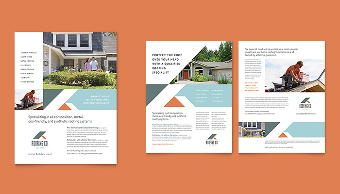 One and Two Page Brochure Designs