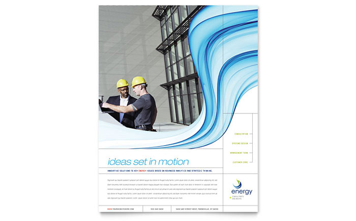 Clean Energy Single Page Brochure Template
