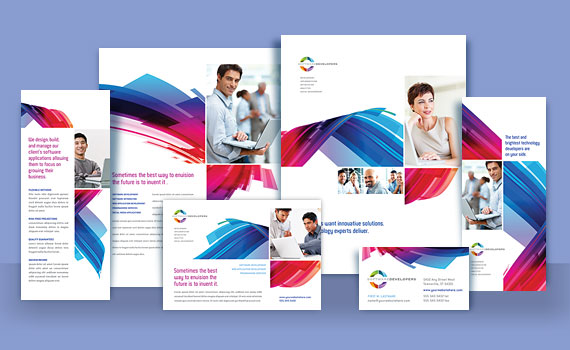 Software Developer - Business Marketing Materials - Sample Designs