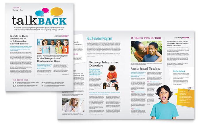 Teacher Classroom Newsletter Design Example