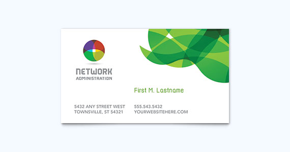 Technology Business Card Design Idea
