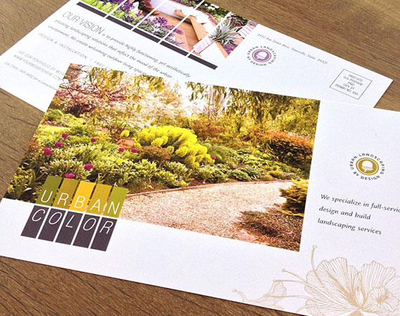 Urban Landscaping - Marketing Material Example