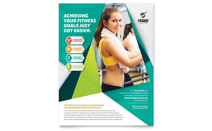 Fitness Trainer Gym Flyer