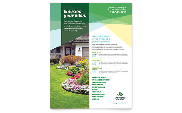 Landscaping Service Flyer  Flyer Samples Templates