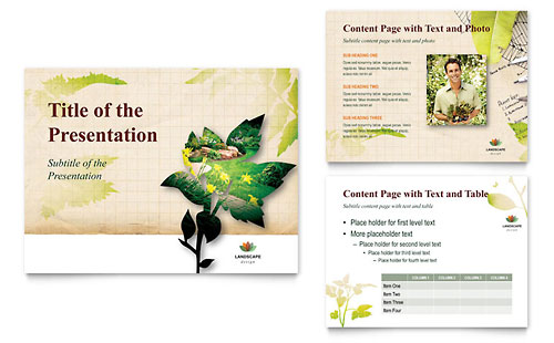 powerpoint brochure templates - landscape design tri fold brochure template design