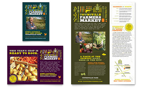 Farmers Market Flyer & Ad Template Design