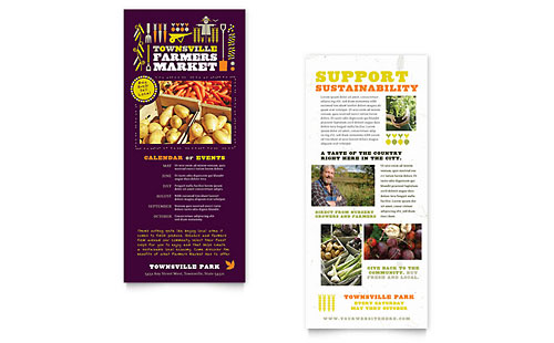 Farmers Market Rack Card