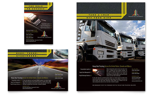 Trucking & Transport Flyer & Ad Template Design