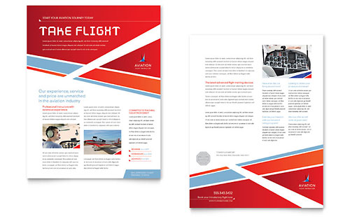Aviation Flight Instructor Datasheet Design Template