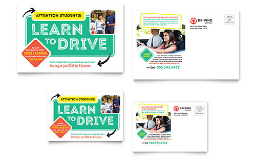 driving school flyer  u0026 ad template design