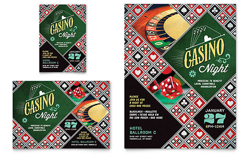 Casino Night Flyer & Ad Template Design
