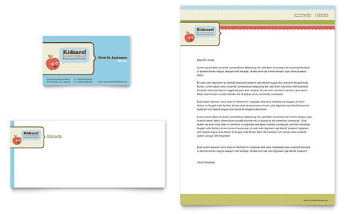 Child Development School Business Card & Letterhead Template
