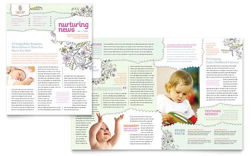 babysitting  u0026 daycare flyer template design