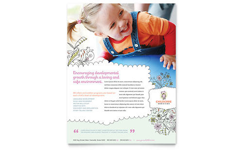 Babysitting Amp Daycare Business Card Amp Letterhead Template