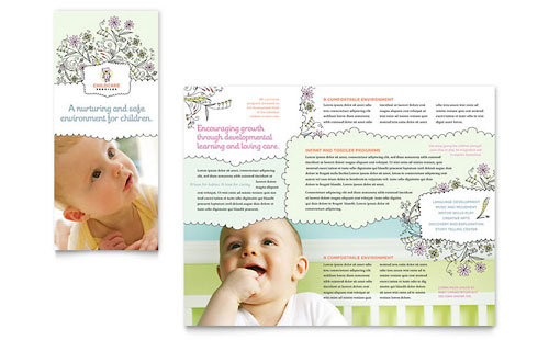 Babysitting & Daycare Tri Fold Brochure