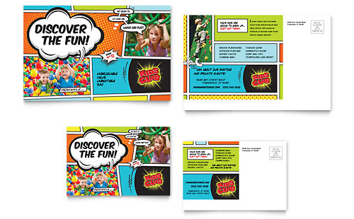Kids Club Postcard Template