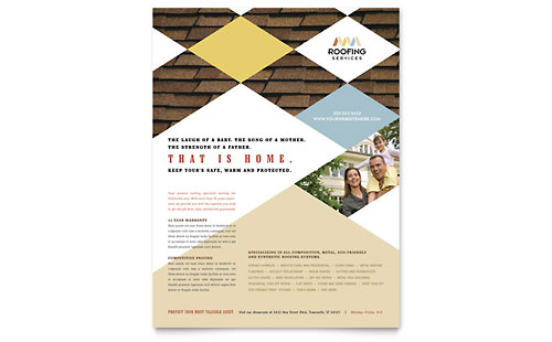 Roofing Contractor Flyer Template Design