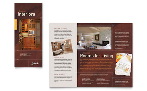 Home Remodeling Tri Fold Brochure Design Template