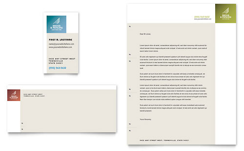 Decks & Fencing Business Card & Letterhead Template Design
