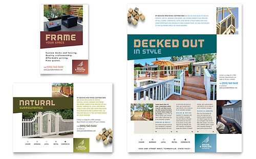 Decks & Fencing Flyer & Ad Template Design