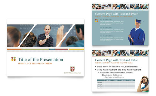 college & university powerpoint presentation template design, Modern powerpoint