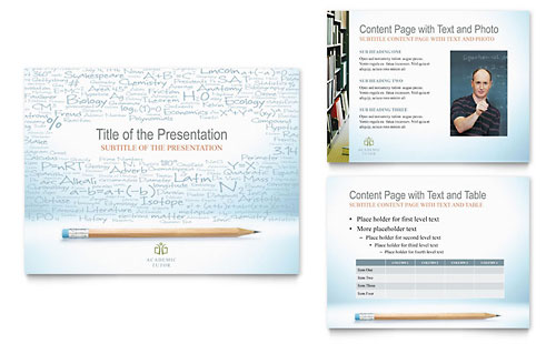 Academic Tutor & School - PowerPoint Presentation Design Template