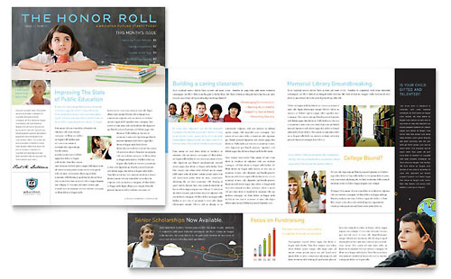 Education Foundation & School Newsletter Template Design