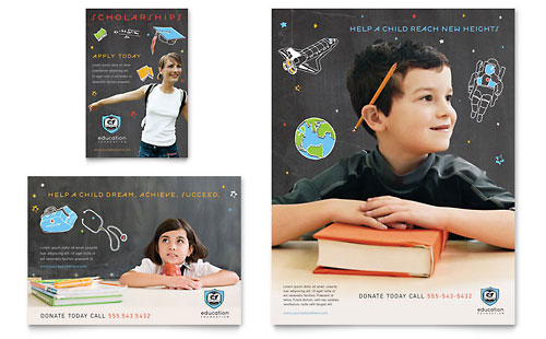 Education Foundation & School Flyer & Ad Template Design