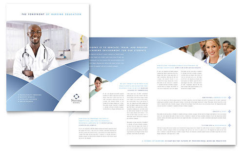 Nursing School Hospital Brochure
