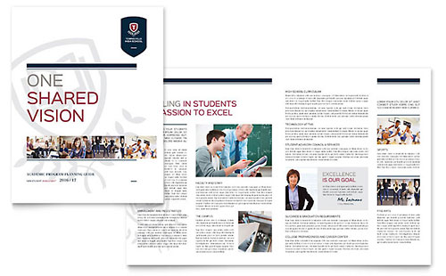 High School Brochure Design Template