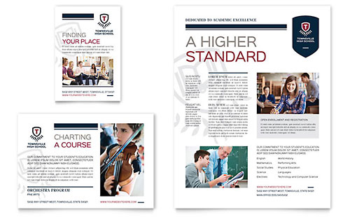 High School Brochure Template Design - High school brochure template