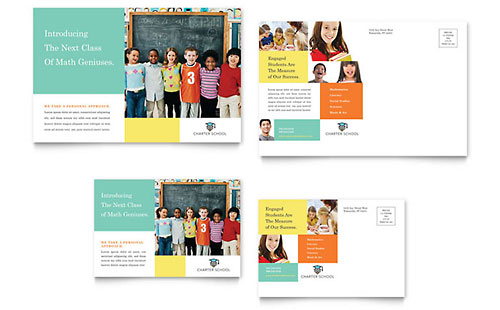 Charter School - Sample Postcard Template