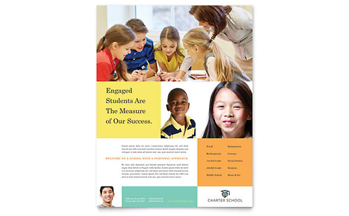 Charter School Flyer Template Design