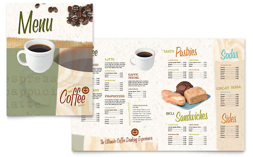 Coffee Shop Menu Template Design – Sample Cafe Menu Template
