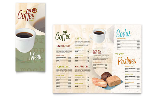 Coffee Shop Take-out Brochure