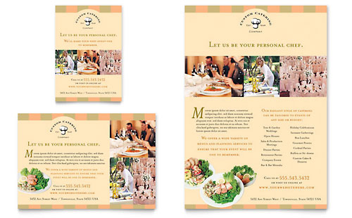Catering Company Flyer & Ad