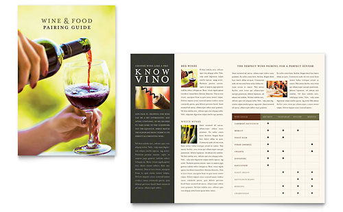Vineyard & Winery Brochure Template Design