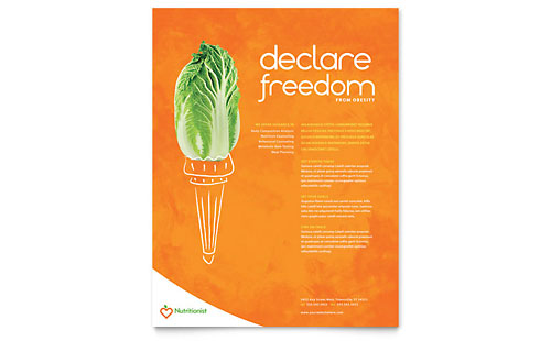 Nutritionist & Dietitian Flyer Template Design