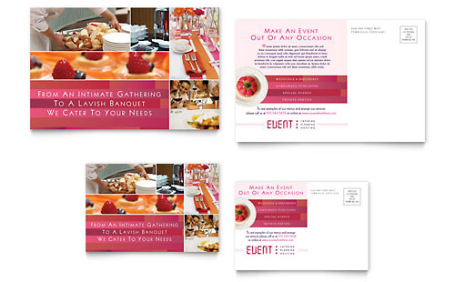 Corporate Event Planner & Caterer Postcard