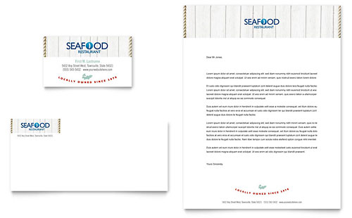 Seafood Restaurant Business Card & Letterhead