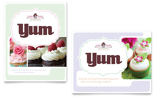 Bakery & Cupcake Shop Poster Template Design